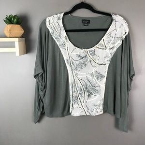Deletta | Anthropologie top with embellished front